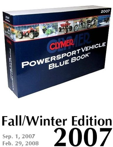 Download Clymer Powersport Vehicle Blue Book: Fall Winter 2007 pdf