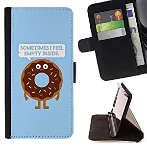 For Samsung Galaxy A5 A5000 A5009 Quote Doughnut Food Cooking Style PU Leather Case Wallet Flip Stand Flap Closure Cover