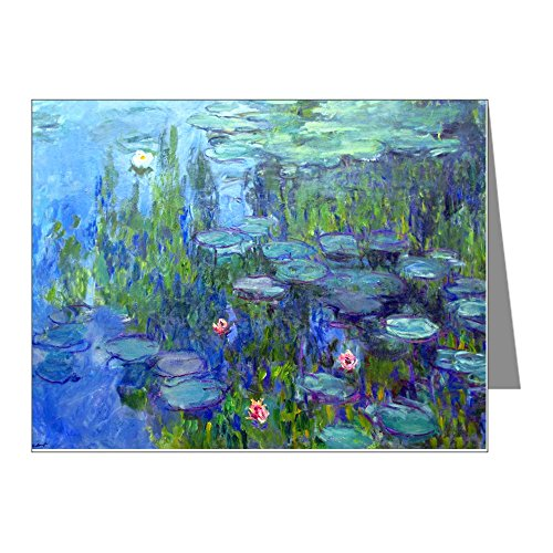 CafePress - 12Mo Monet 20 Note Cards  - Blank Note Cards  Ma