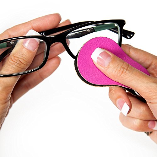 New Microfiber Cleaning Cloth with Ultra-Fresh Antimicrobial Product Protection for Clean Eyeglass Lenses; Gwee Guppy Keyring in Hot Pink, 2pack; Eyeglasses Cleaner Keychain, Lens Cleaner Wipes; For Sun glasses, Eyeglasses, - Hut Eyeglass