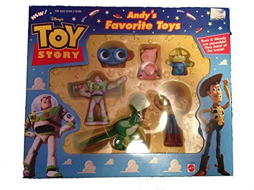 Set Doll Andy (Overseas direct import genuine Toy Story Toy Story Woody Buzz Lightyear figure doll Disney Toy Story Andy's Favorite Toys Figure Set)