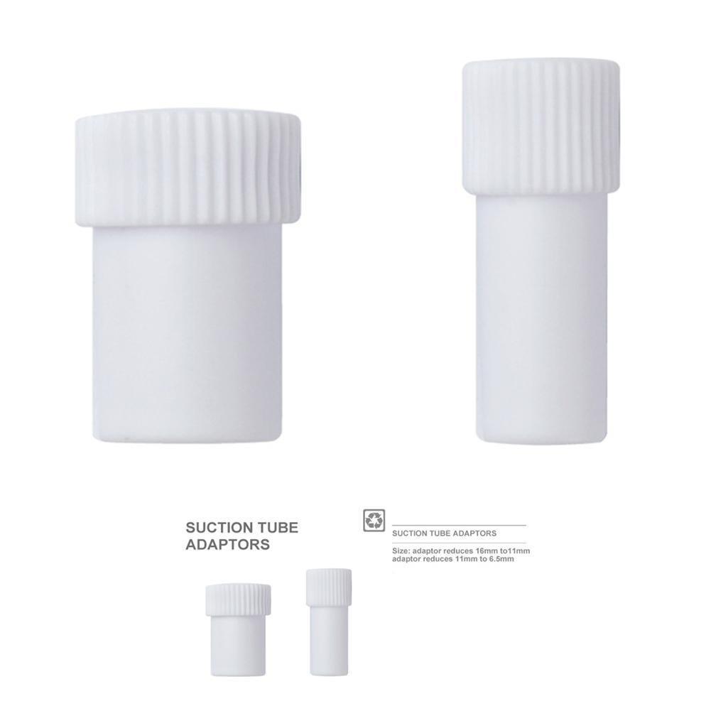 Gracefulvara 2pcs Dental Suction Tube Convertor Saliva Ejector Hose Adaptor