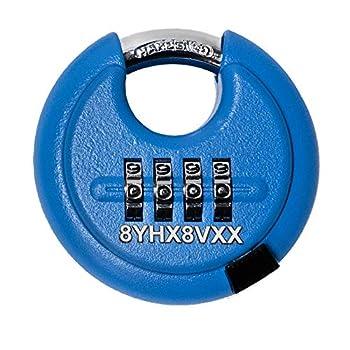 Image of Combination Padlocks DaVinci Disc Lock - Blue 10 Pack