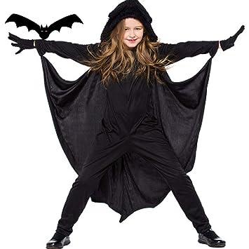 Childrens Bat Wing Capes Boys Girls Halloween Fancy Dress Costume
