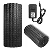 Slimerence 4-Speed Vibrating Electric Foam Roller, Rechargeable Electric Foam Massager, Deep Tissue Massager For Exercise, Yoga, Cycling, Running, Stretching, Muscle Relief