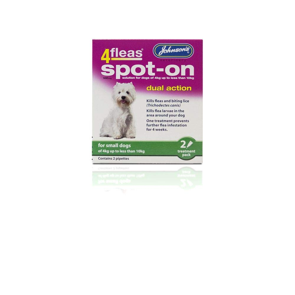 Johnson's 4Fleas Spot-On Dual Action for Small Dogs: Amazon