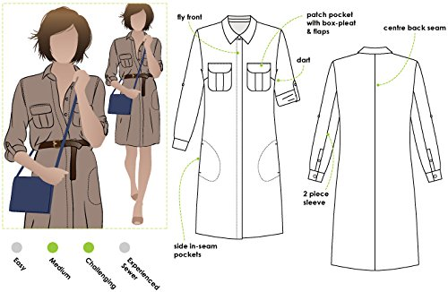 Style Arc Sewing Pattern - Mara Shirt Dress (Sizes 04-16) - Click for Other Sizes Available
