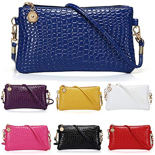 Women Faux Leather Zipper Clutch Mini Cross Body Shoulder Bag Phone Bag by Shengyuze (Image #3)
