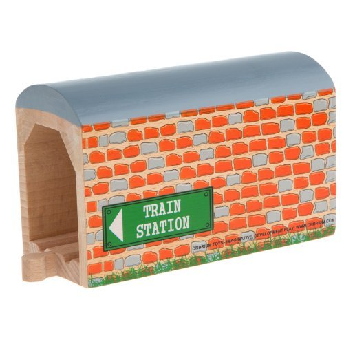 (Orbrium Toys Large Wooden Train Tunnel for Wooden Railway Fits Thomas Brio Chuggington Melissa Doug Imaginarium)