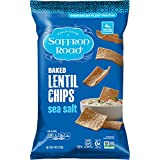 Saffron Road Baked Lentil Chips, Sea Salt, 4 Ounce (Pack of 12)