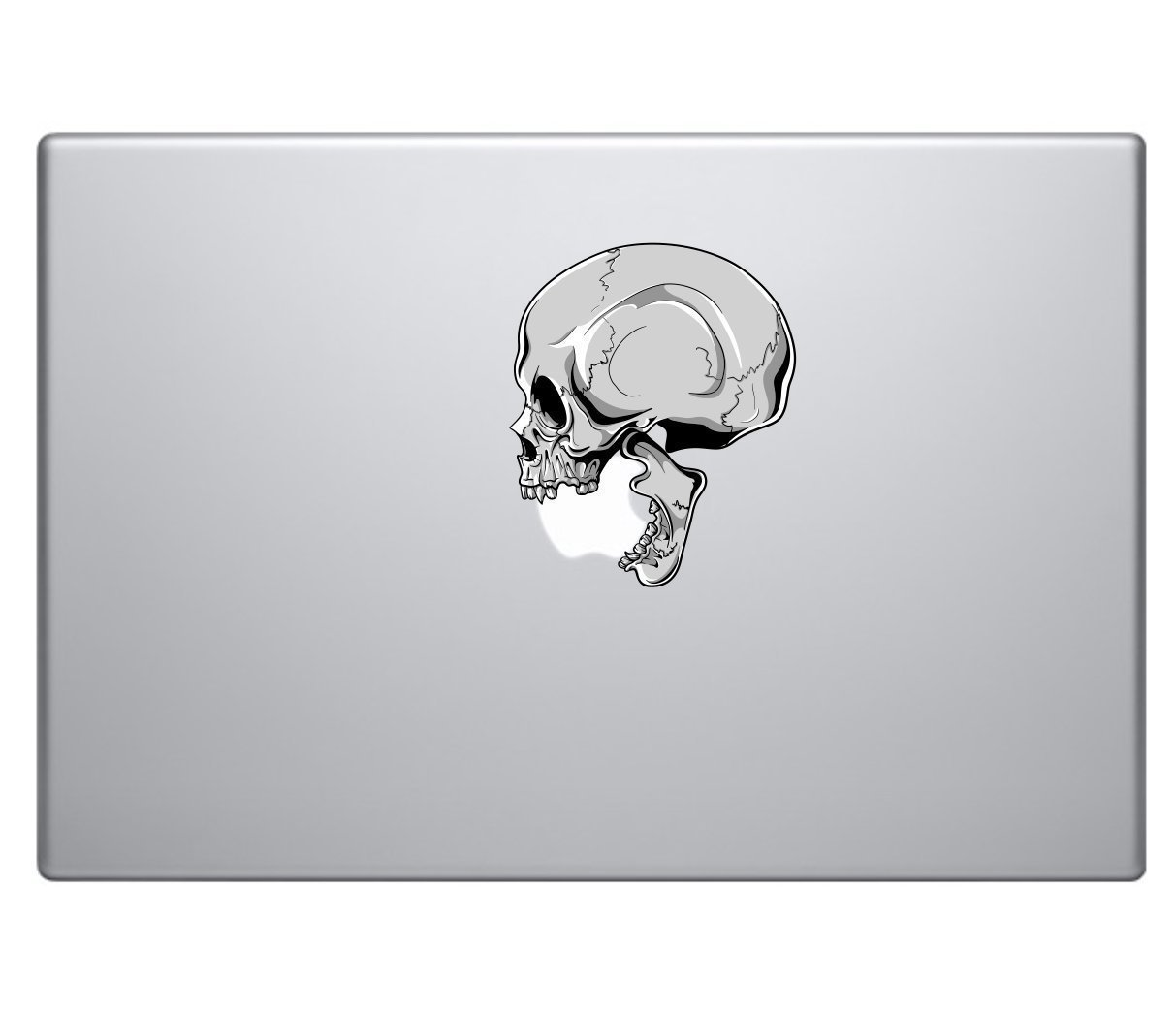 Human Skull Biting Apple Logo Vinyl Decal Sticker - Skin MacBook Pro Air Sticker 13 15 17 Laptop Sticker Zombie Sticker Self Adhesive Vinyl