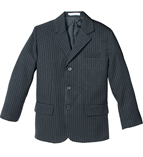 Grey Pinstripe Blazer (Spring Notion Big Boys' Pinstripe Blazer 10 Dark)