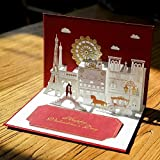 Heliyan Cards 10Pc 3D Wedding Invitation Pop Up Greeting Cards Laser Cut Customized For Marriage Valentines Gifts