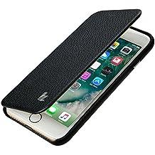JISONCASE iPhone 7 Case, iPhone 8 Premium Leather Handmade Full Protective Case Folio Flip Cover Magnetic Closure Design for Apple iPhone 7/8 Black