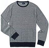 J. Crew - Men's - Cotton/Linen Crewneck Sweater (Multiple Color/Size Options) (Medium, Indigo Stripe)