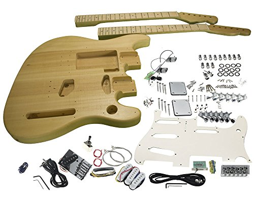 Solo ST/TC Style Double Neck DIY Guitar Kit