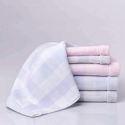ZLR Toallas de gasa de tela escocesa Toalla de baño de toalla de algodón puro con