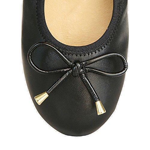 Black Women's MORENA Flat Foldable Nitta MORENA Ballerina vqvzYapw