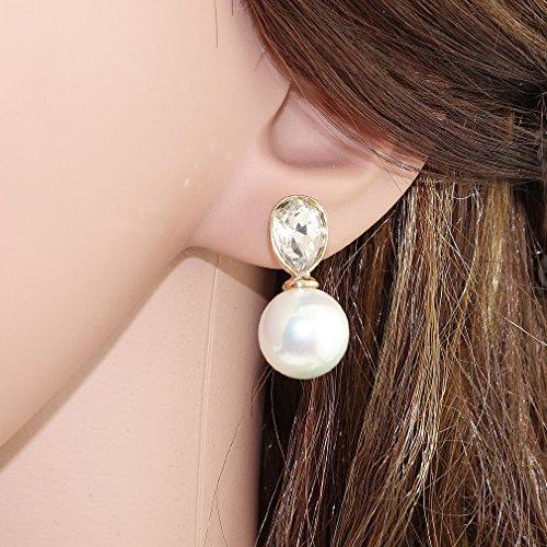 """Ehvan® mesdames Senhora Paras série perle seule étoile latin millésime Royal & classique boucle d'oreille goutte 7/8 """"Doré"""