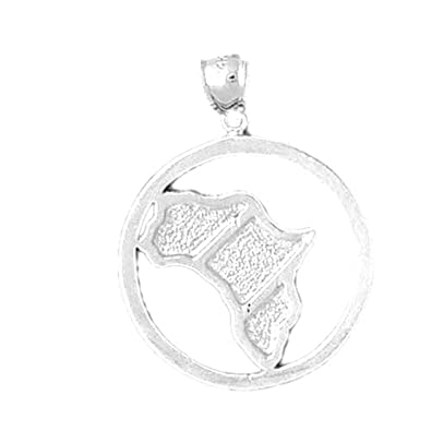 Amazon sterling silver africa pendant 31 mm jewelry sterling silver africa pendant 31 mm aloadofball Images