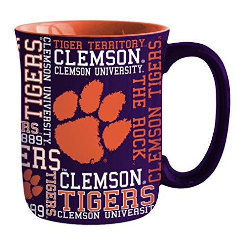 NCAA Clemson Tigers Sculpted Spirit Mug, 17-ounce