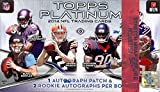 2014 Topps PLATINUM NFL Football Trading Cards HOBBY Box - Look for top rookie autos like Teddy Bridgewater, Johnny Manziel, Blake Bortles and more!