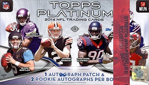 Teddy Topps (2014 Topps PLATINUM NFL Football Trading Cards HOBBY Box - Look for top rookie autos like Teddy Bridgewater, Johnny Manziel, Blake Bortles and more!)