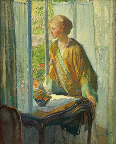 High Quality Polyster Canvas ,the Beautiful Art Decorative Canvas Prints Of Oil Painting 'Richard Edward Miller,At The Window,ca.1910-1912', 16x20 Inch / 41x50 Cm Is Best For Dining Room Artwork And (1912 Halloween Costumes)