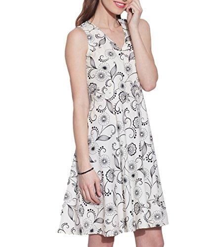 Vêtements Coton Imprimé Dress, lavable en machine, W-CPD40-1632, Taille-40 pouces