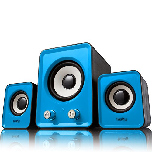 Frisby FS-2700B USB Powered 2.1 Ch PC Computer Desktop Notebook Tablet Laptop Woofer Speaker System for Home or Office Consumer - Blue