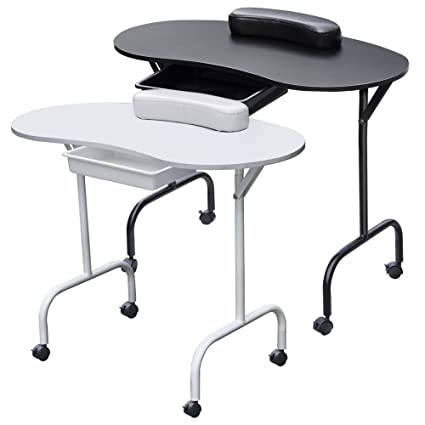 Beyondfashion - Mesa para manicura (plegable, con cajón ...