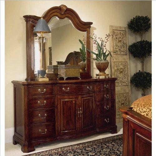 American Drew Bob Cherry Grove Landscape Mirror and Dresser Set