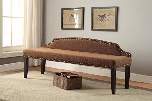 Furniture of America Arietta 63 Accent Bench, Large, Brown