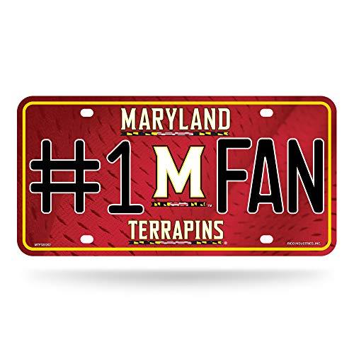 (NCAA Maryland Terrapins #1 Fan Metal License Plate)