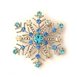 DZT1968 Christmas Snowflake Brooch Gifts unique exquisite brooch