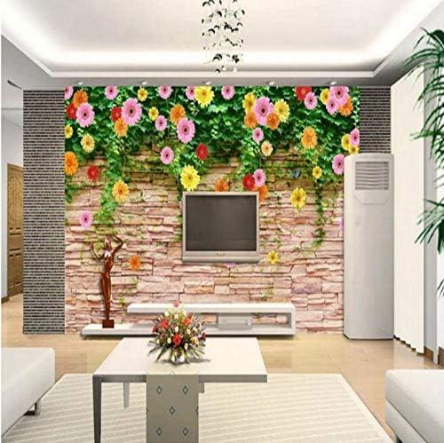 YWWZ&N カスタム3d写真壁紙シルク壁紙壁3d壁画背景ローズ菊寝室リビングルームホーム改善