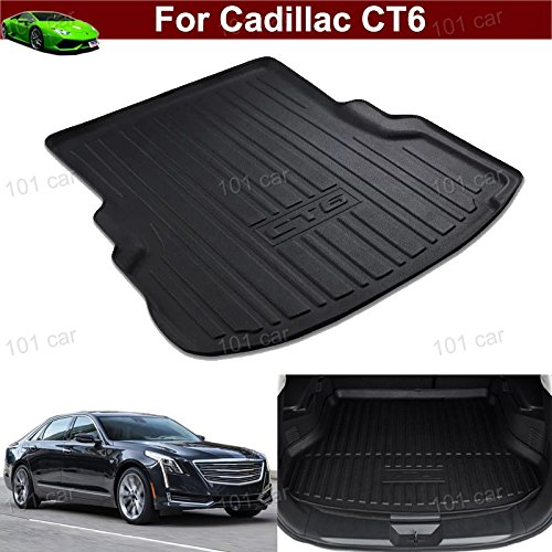 1pcs Luxury Leather Car Boot Mat Boot Tray Rear Trunk Cargo Liner Cargo Mat Cargo Tray Floor Mat Carpet Custom Fit For Cadillac CT6 2016 2017 2018