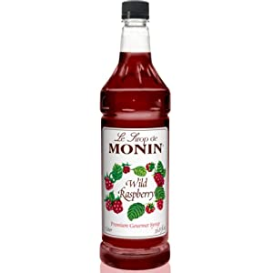 Monin Pet Wild Raspberry Drink Syrup, 1 Liter (01-0474) Category: Drink Syrups