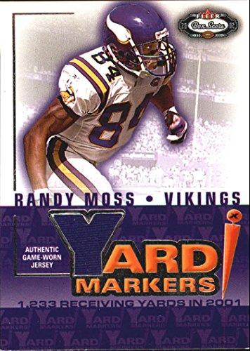 2002 Fleer Box Score Yard Markers Jerseys #15 Randy Moss Game-Worn Jersey Card
