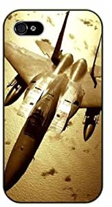 iPhone 5C Fighter jet - black plastic case / Plane, aircraft, airplane