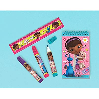 AdorableDisney Doc McStuffins Stationery Set Birthday Party Favour, Paper , Pack of 5: Toys & Games