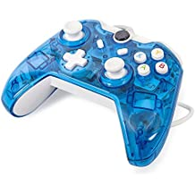 J&T Xbox One Wired Controller Transparent Gamepad with Shining LED Light Support Monster Hunter World Etc.