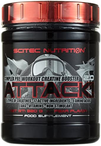 Scitec Nutrition Creatine Attack 2.0, Birne, 320g
