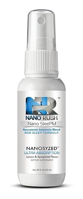Nano Rush SleePM Narcatonin Insomnia Blend REM Natural Sleep Remedies with Nanotechnology 1 Oz Lemon &