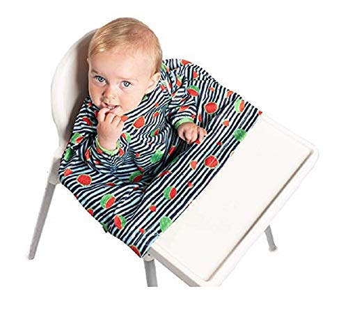 - Weaning Bib, BIBaDO Baby Feeding Coverall Straps To Any Highchair, Ideal for BLW