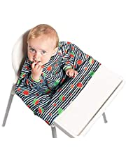 BiBADO Baby & Toddler Weaning Bib Coverall Attaches to Highchair & Table One Size Fits All
