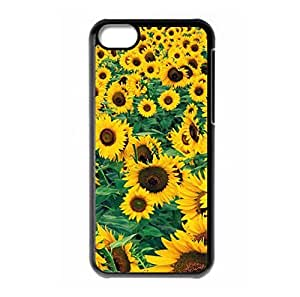 Beautiful Sunflower theme iPhone 5C hard back cover for girls