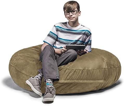 Jaxx Cocoon 4 Foot Bean Bag Chair, Camel