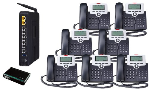X-50 VoIP Small Business System (7) Phone System bundle by Xblue