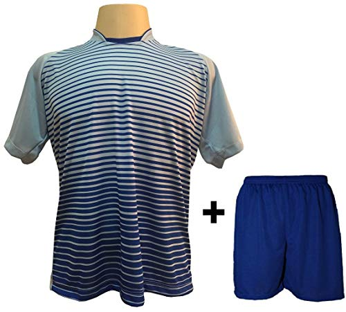 Uniforme Esportivo com 12 camisas modelo City Celeste Royal + 12 calções  modelo Madrid Royal 616d386988b8f